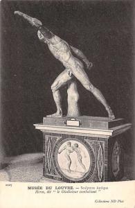 Art Postcard: Musee du Louvre, Sculpture Antique Gladiateur combattant hero