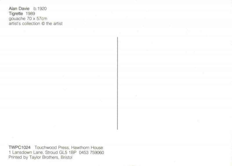 New Art Postcard, Tigrette (1989) by Alan Davie AT5