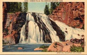 Yellowstone National Park Gibbon Falls Curteich
