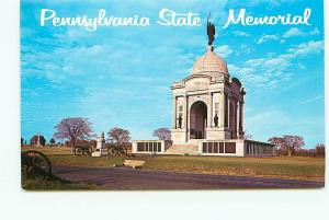 Postcard Pennsylvania State Memorial Gettysburg Battlefield Free Shipping# 2540A
