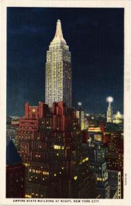 CPA AK Empire State Building at night NEW YORK CITY USA (790083)