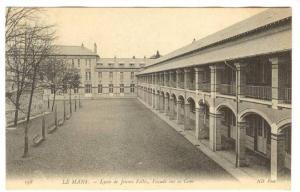 Lycee De Jeunes Filles, Facade Sur La Cour, Le Mans (Sarthe), France, 1900-1910s