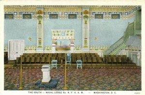 PC CPA FREEMASONRY, WASHINGTON D.C. , NAVAL LODGE, SOUTH, Postcard (b16083)
