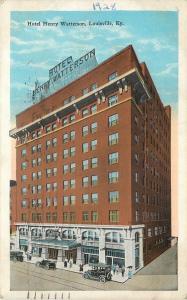 Louisville Kentucky~Hotel Henry Watterson~Light Bulb Sign~1928 Postcard