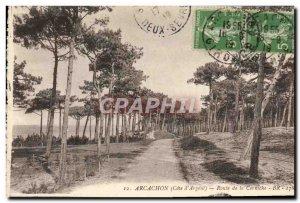Old Postcard Arcachon Route De La Corniche