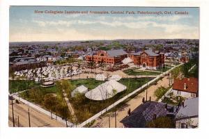 Soldiers' Tents at Collegiate Institute, Central Park, Peterborough, Ontario,