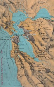 San Francisco Bay , California  , Map , 1900-10s