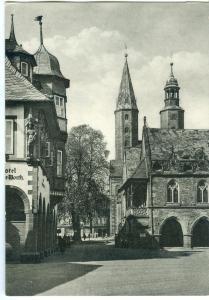 Germany, Goslar, Am Marktplatz, Rathaus, 1965 used Postcard