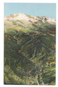 Manitou Springs Pikes Peak Colorado 1942 Curteich Linen