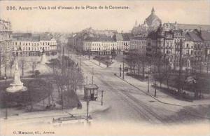 Belgium Anvers Vue a vol d'oiseau de la Place de la Commune