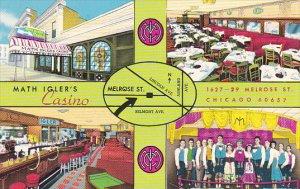 Illinois Chicago Math Igler's Casino Restaurant Curteich