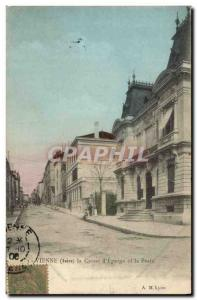 Old Postcard Bank Vienna Caisse d & # 39Epargne and Post Office