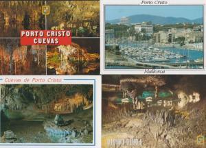 Porto Cristo Caves Cuevas 4x Mallorca Postcard s