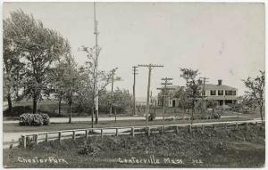 Centerville MA Cape Cod Chester Park Dirt Street View RPPC Real Photo Postcard