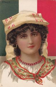Female Head Portrait ,  ITALY  , 00-10s TUCK #6785