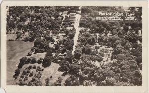 Michigan MI Real Photo RPPC Postcard 1952 CENTERVILLE Birdseye View