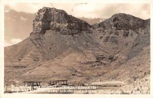 Texas El Capitan Guadalupe Peak Real Photo Vintage Postcard JA4741639