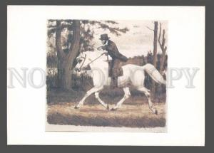 083898 Alexander PUSHKIN Russian POET on ARABIAN HORSE