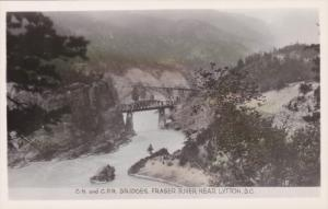 RP, C.N. And C.P.R. Bridges, Fraser River Near LYTTON, British Columbia, Cana...