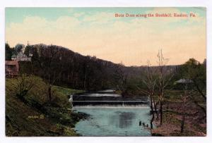 1907-1915 Easton PA Butz Dam Along The Bushkill Antique Divided Back DB Postcard
