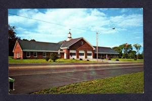 ME City Bldg Fire Station WISCASSET MAINE POSTCARD PC