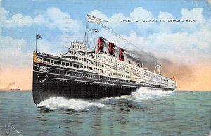 City of Detroit III Ferry Boat Ship 1938