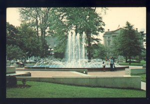 Elyria, Ohio/OH Postcard, Fountains In Ely Park