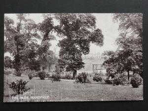 Nottinghamshire: Mansfield THE PARK & Bandstand Old Postcard by Y.M.C.A. Series