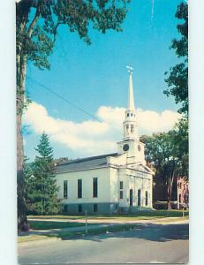 Pre-1980 CHURCH SCENE St. Saint Johnsbury Vermont VT p4262