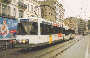 De Lijn 6048 Le Brugeoise Oostende Westende Belgium Tram Postcard