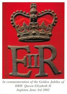 Postcard Golden Jubilee of HRH Queen Elizabeth II, Ingleton, June 3rd 2002 48N