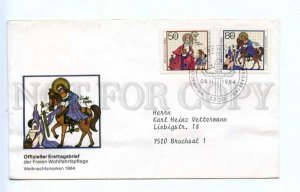 419205 GERMANY 1984 year Christmas painting joint First Day COVER