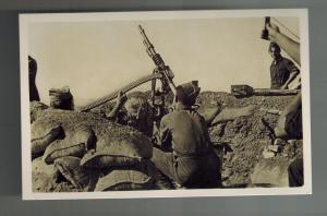 Mint Spain Civil War RPPC Postcard Catalonia Republican Anti Aircraft Gunners