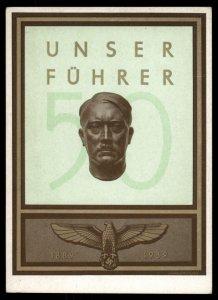 3rd Reich Germany 1939 Adolf Hitler Unser Fuehrer Portrait Hoffmann G1 Co 100413