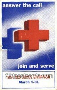 Red Cross Unused internal creases