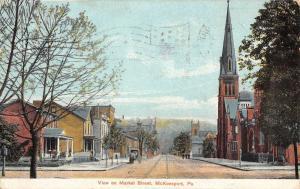 McKeesport Pennsylvania Market Street Scene Antique Postcard K39403