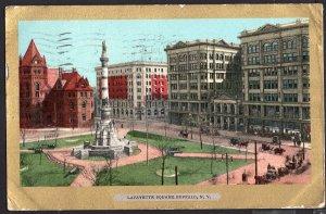 New York ~ LaFayette Square BUFFALO pm1906 Und/B Vintage