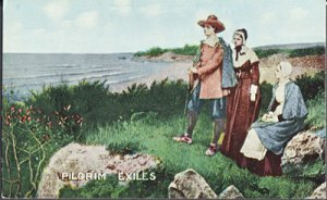 EARLY card showing Pilgrim Exiles, 1900s