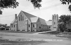 Spencer Iowa~Bethany Lutheran Church~2 Story House~1950s Real Photo Postcard