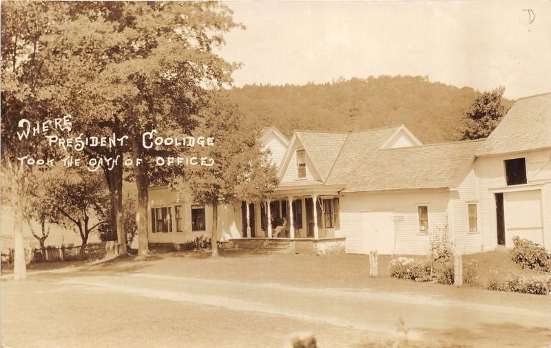 Plymouth Notch Vermont~Coolidge Homestead~President Oath of Office~1930s RPPC