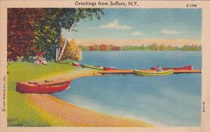 New York Suffern Greetings From Suffern Curteich