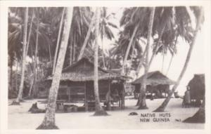 New Guinea Native Huts Real Photo