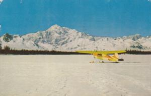 Airplane, Winter Scene, Mt. McKinley, ALASKA, PU-1966