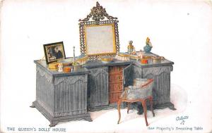 The Queen's Dolls' House - Her Majesty's Dressing Table, mirror, make-up Oilette