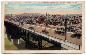 1915-30 Pittsburgh PA Bridge Connecting Grant Boulevard & Bloomfield District WB
