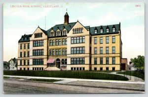 Cleveland Ohio~Little Belfry Atop Lincoln High School~Dormers & Gables~c1910 PC