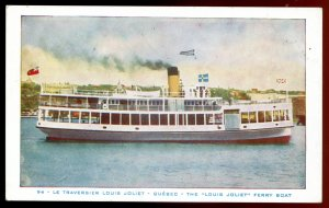 dc863 - Steamer LOUIS JOLIET 1930s Quebec Ferry Boat by Audet