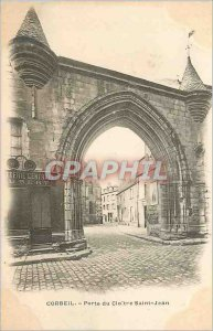 Old Postcard Corbeil Gate Cloitre Saint John (1900 card)