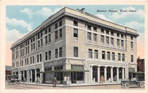 B12/ Waco Texas Tx Postcard c1920s Masonic Temple Building 1