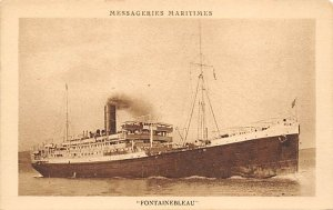 Fontainebleau French Misc Lines Ship Unused
